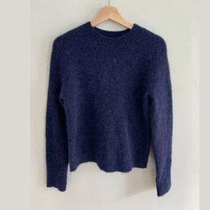 J.Crew Point Sur Crew Neck Alpaca Sweater Navy